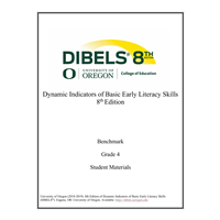 • DIBELS - Grade 4 Teacher Manual