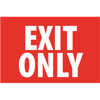 (Aluminum) Exit Only