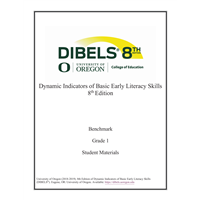 • DIBELS - Grade 1 Teacher Manual