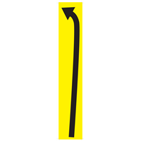 SIGNAGE -CURVE LEFT Directional Arrow FLOOR STICKER DIR-LFT