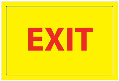 (Wall Decal) Exit