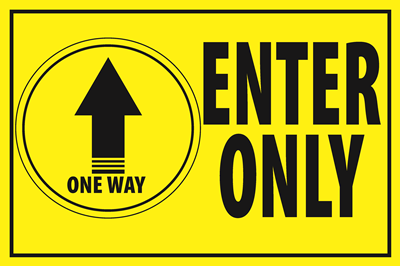 (Wall Decal) Enter Only