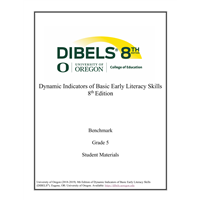 • DIBELS - Grade 5 Teacher Manual