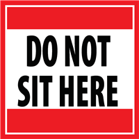 DO NOT SIT STICKER DNSH - STK- 4