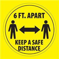 6 FOOT DISTANCE FLOOR STICKER 6FT-STK-3