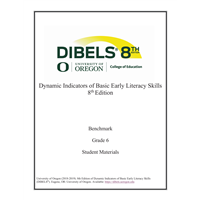 • DIBELS - Grade 6 Teacher Manual