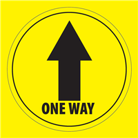 ONE WAY FLOOR STICKER  OW-STK-7
