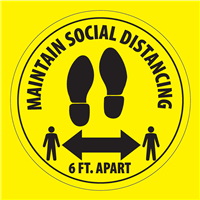6 FOOT DISTANCE FLOOR STICKER - Maintain Social Distance SD-STK-6